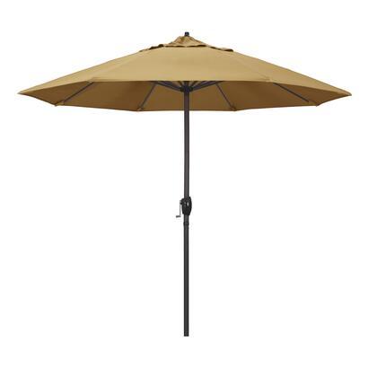 Casa Collection ATA908117-5414 9′ Patio Umbrella With Bronze Aluminum Pole Aluminum Ribs Auto Tilt Crank Lift With Sunbrella 1A Wheat