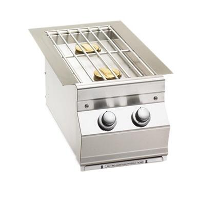 Fire Magic 3281PL Side Burner Stainless Steel, Built In Double Side Burner, Simple Knob Control, for Aurora Grills