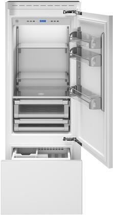 Bertazzoni  REF30PRR Bottom Freezer Refrigerator Panel Ready, REF30PRR  Door Open
