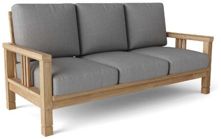South Bay DS-3013 71″ Deep Seating Sofa with Teak Wood Construction  Water-Base Sealer and Sunbrella