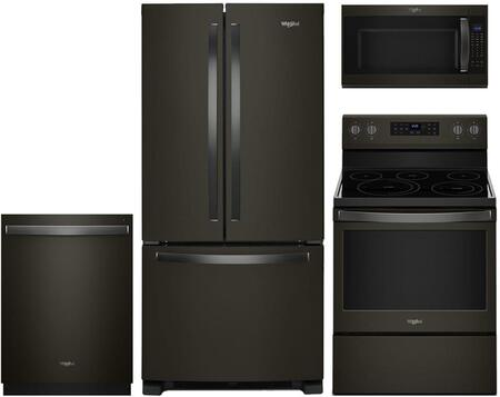 Whirlpool  929708 Kitchen Appliance Package Black Stainless Steel, main image