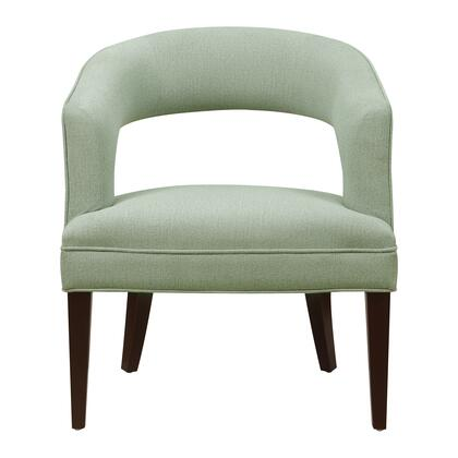 156-DSA464-093-553 Upholstered Mid-Century Modern Accent Chair in Seaglass