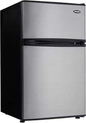 Danby DCR032C3BSLDB Compact Refrigerator Stainless Steel, Main Image