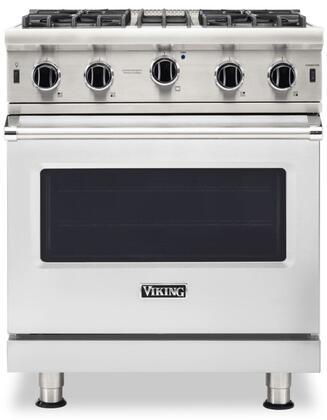 Viking 5 Series VGIC53024BSS Freestanding Gas Range, VGIC53024BSS Open Burner Range