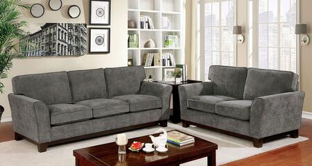Furniture of America Caldicot CM6954GYSF2SET Living Room Set Gray, Living Room Set