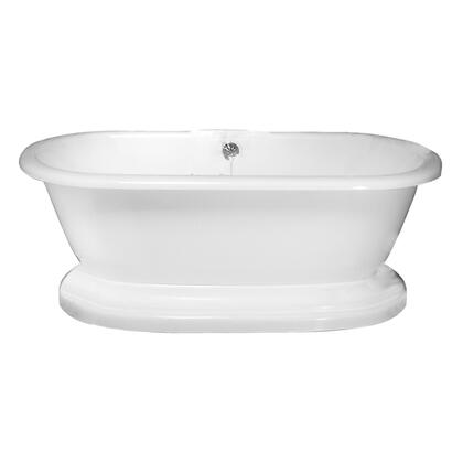 Barclay  ATDRN63BWH Bath Tub White, Shown in White Finish