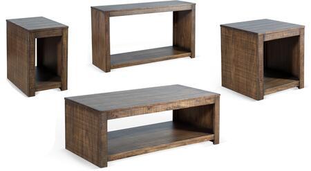 Sunny Designs Coleton 3108TLSET Living Room Table Set Brown, Main Image