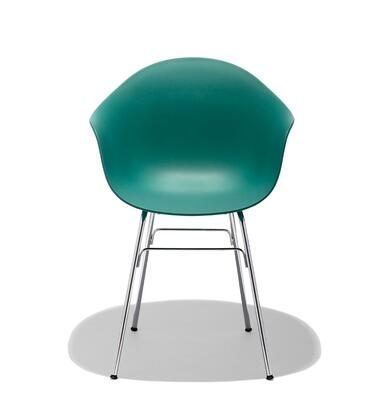 TA Collection TO-1733OB-1502C Upholstered Armchair/Er Base Chrome/Ocean Blue