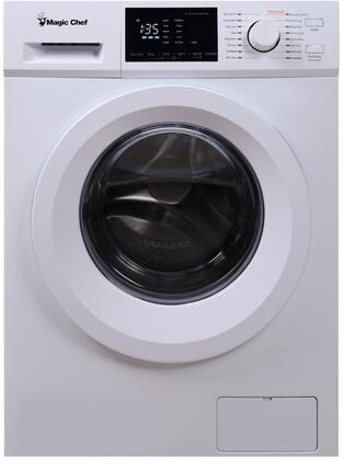 MCSFLW27W 24″ Front Load Compact Washer with 2.7 cu. ft. Capacity  16 Wash Cycles  5 Temperature Settings  Stainless Steel Drum  Energy Star  in
