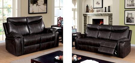 Furniture of America Karlee CM6988SL Living Room Set Brown, main image