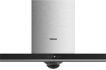 A817 36 Inch Wall Mount Ducted Range Hood  Modern Kitchen Vent Hood  Powerful Motor Rated at 340PA  58dB Noise Level  Touch Screen  Dishwasher-Safe