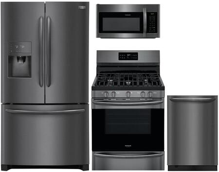 Frigidaire 909236 Kitchen Appliance Package & Bundle Black Stainless Steel, Main image