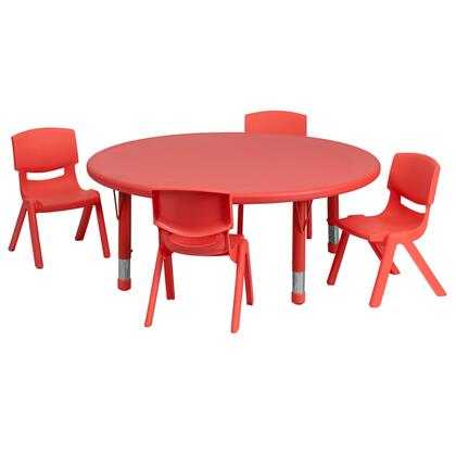 Flash Furniture YUYCX00532ROUNDTBLREDEGG Kid Table Red, 1