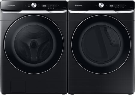 Samsung  1396937 Washer & Dryer Set Black Stainless Steel, 1