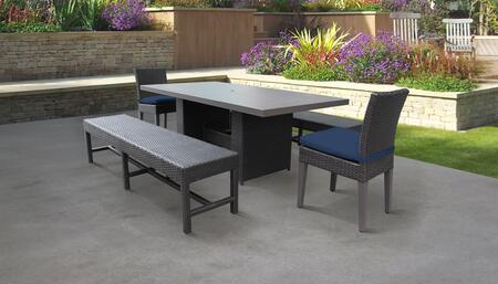 TK Classics BELLEDTRECKIT2C2BCNAVY Outdoor Patio Set, BELLE DTREC KIT 2C2B C NAVY