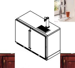 Perlick  HP48RTS2L2R2 Beer Dispenser Panel Ready, 1