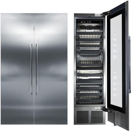 Perlick 1045086 Column Refrigerator & Freezer Set Stainless Steel, main image