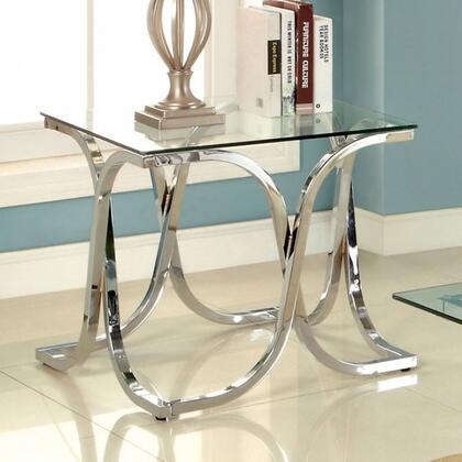 Furniture of America Luxa CM4233EPK End Table Silver, Main Image