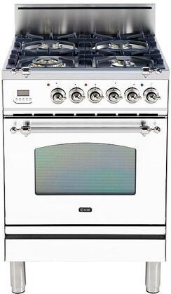 Ilve Nostalgie UPN60DVGGBX Freestanding Gas Range White, Main Image