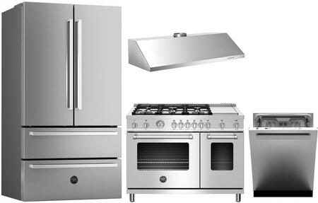 Bertazzoni 1054736 Kitchen Appliance Package & Bundle Stainless Steel, 1