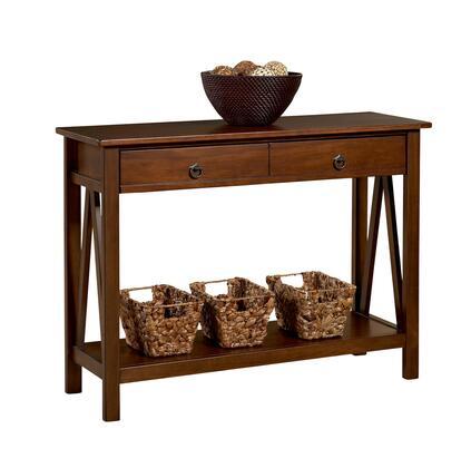 Linon Titian 86152ATOB01KDU Console , 86152ATOB 01 KD U TITIAN CONSOLE TABLE    With Props