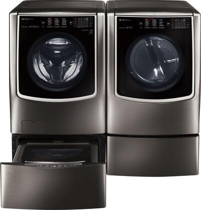 LG Signature 714571 Washer & Dryer Set Black Stainless Steel, Main Image