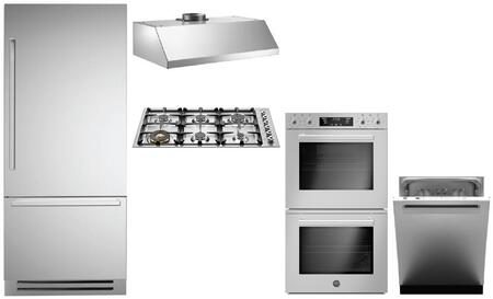 Bertazzoni  946262 Kitchen Appliance Package Stainless Steel, main image