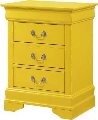 Glory Furniture Louis Phillipe G31023N Nightstand Yellow, G31023N Main Image