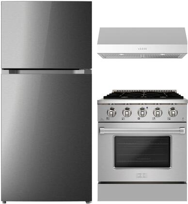 Forte  1458100 Kitchen Appliance Package Stainless Steel, main image