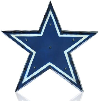 545-1002 Dallas Cowboys Logo Lighted Recycled Metal