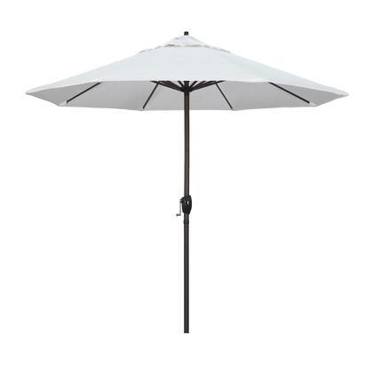 Casa Collection ATA908117-5404 9′ Patio Umbrella With Bronze Aluminum Pole Aluminum Ribs Auto Tilt Crank Lift With Sunbrella 1A Natural