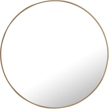 MR4042BR Metal Frame Round Mirror 36″ Brass