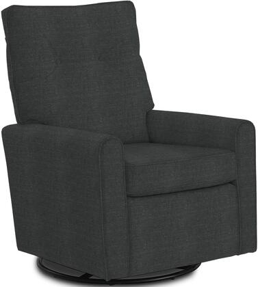 Phylicia Collection 4007-20012 Recliner with 360-Degrees Swivel Glider Metal Base  Removable Back  High Backrest  Zipper Access and Fabric Upholstery