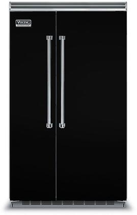 Viking 5 Series VCSB5483BK Side-By-Side Refrigerator Black, In Black