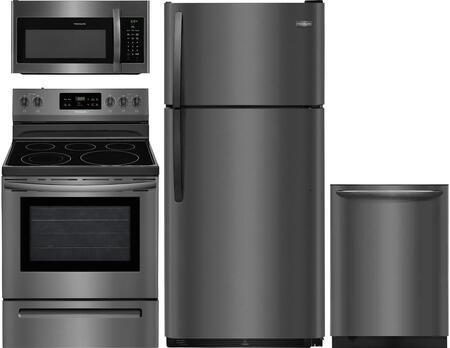Frigidaire 850130 Kitchen Appliance Package & Bundle Black Stainless Steel, main image