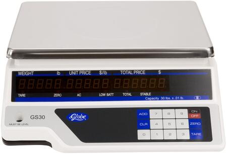 Globe GS30 Small Commercial Appliance White, Scale Front View