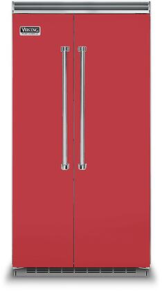 Viking 5 Series VCSB5423SM Side-By-Side Refrigerator Red, VCSB5423SM Side-by-Side Refrigerator