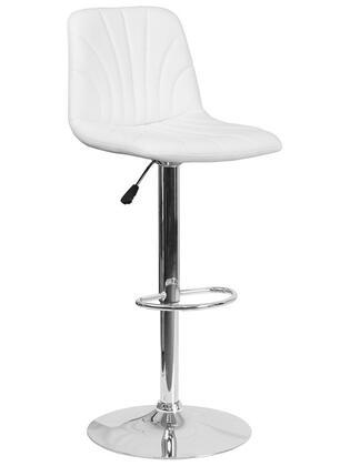 Flash Furniture DS8220 DS8220WHGG Bar Stool White, DS8220WHGG