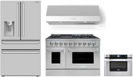 SHARP  1500803 Kitchen Appliance Package Stainless Steel, Main Image