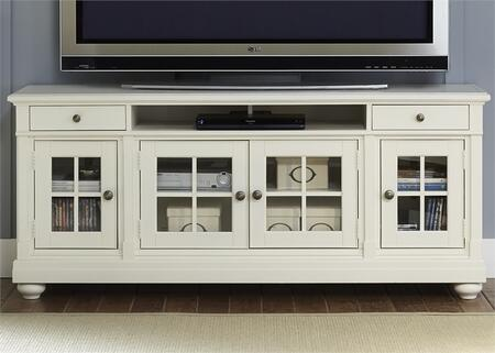 Liberty Furniture Harbor View 631TV74 52 in. and Up TV Stand White, Main Image