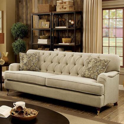 Furniture of America Laney CM6863SF Stationary Sofa Beige, Main Image
