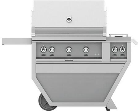 Hestan GMBR36CX2NG Natural Gas Grill Stainless Steel, Front View