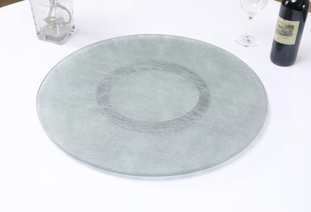 LAZY-SUSAN-24-SLK 24″ Glass Lazy Susan with Silkscreen Design in