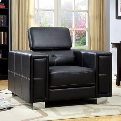 Furniture of America Garret CM6310CH Living Room Chair Black, Main Image
