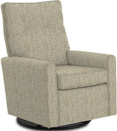 Phylicia Collection 4007-20529 Recliner with 360-Degrees Swivel Glider Metal Base  Removable Back  High Backrest  Zipper Access and Fabric Upholstery