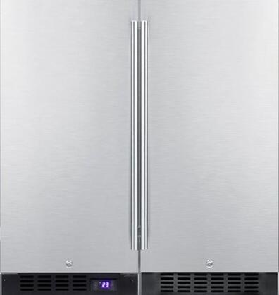 Summit  723986 Side-By-Side Refrigerator Stainless Steel, 1