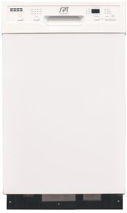 Sunpentown SD9254W Built-In Dishwasher White, SD9254W Front View