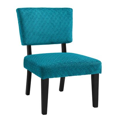 Linon Taylor 36080TEAL01U Accent Chair, 36080TEAL01U Taylor Teal Blue Accent Chair