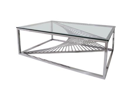 TIFFANY-CT Contemporary Glass Top Cocktail
