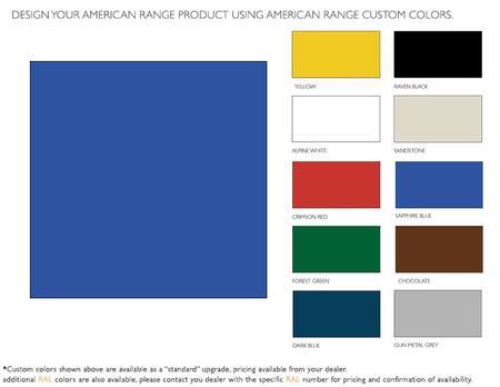 American Range  ARR60CKSB Color Option , 1